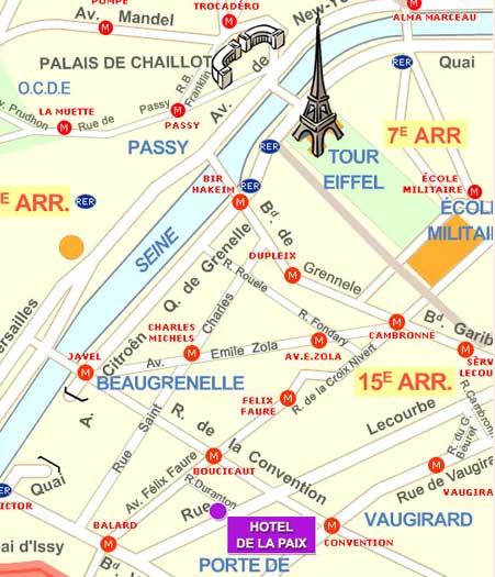 Einfahr plan hotel de la paix paris n he montparnasse und - Plan metro paris porte de versailles ...