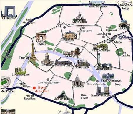 Map And Access How To Reach Us Hotel De La Paix Paris Near - Map paris stations